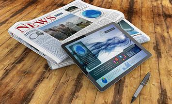 En nyhetstidning och en I-pad